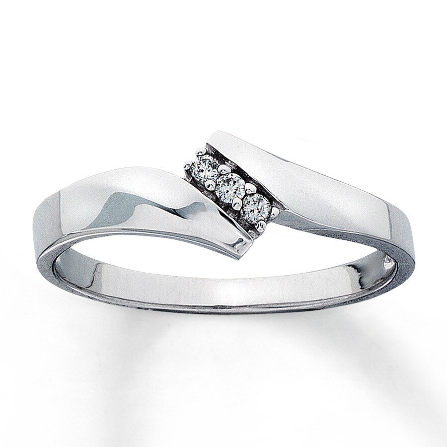 promise ring 1 20 ct tw cut 10k white gold