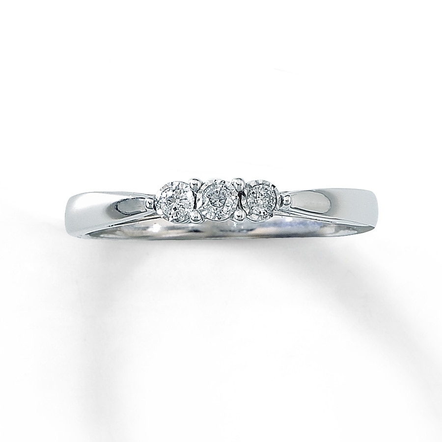 Kay Diamond Promise Ring 1 15 ct tw Round Cut 10K White Gold