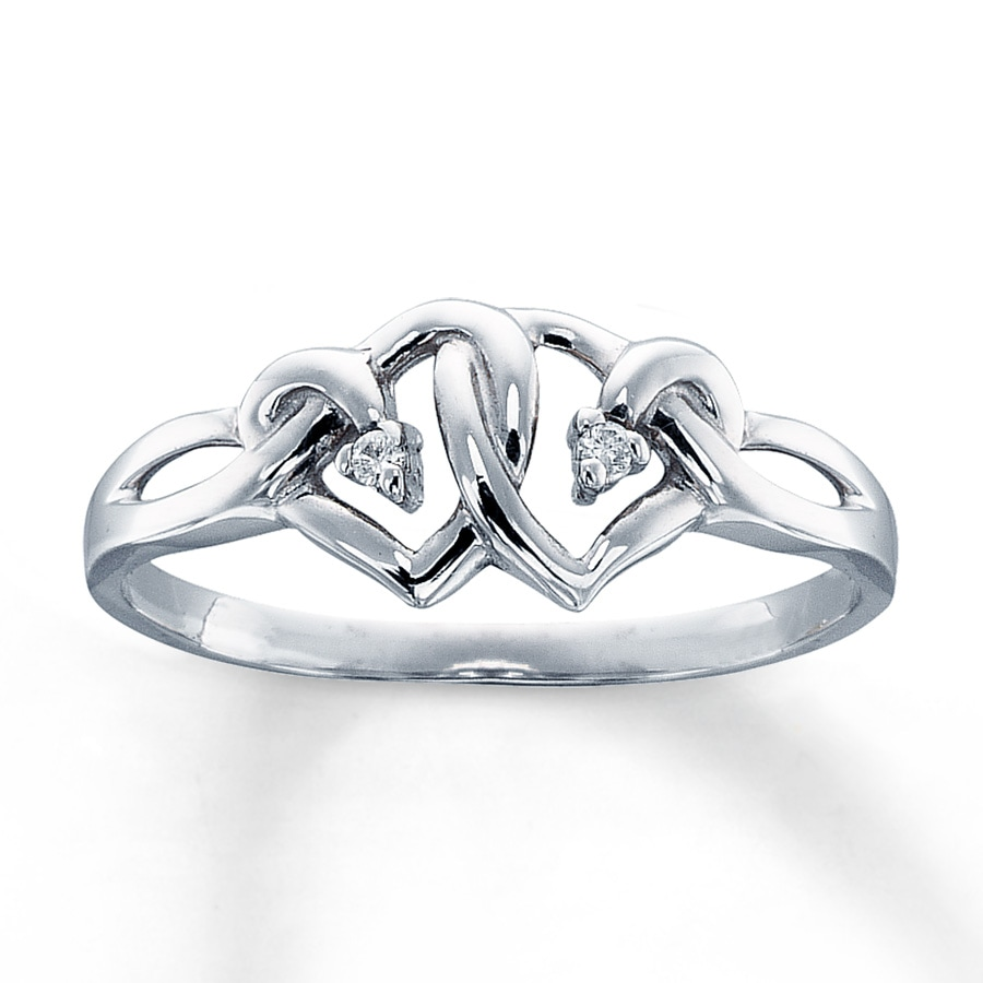 promise ring accents 10k white gold