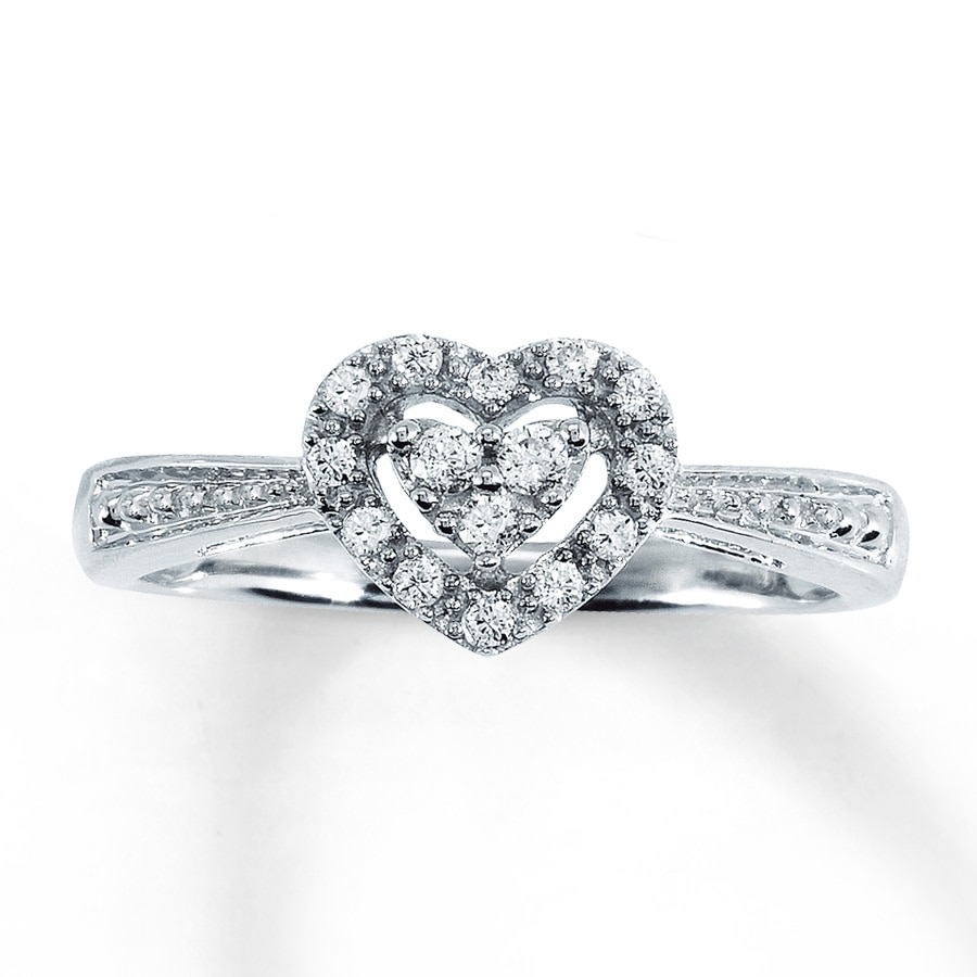 Kay Jewelers Diamond Heart Promise Ring