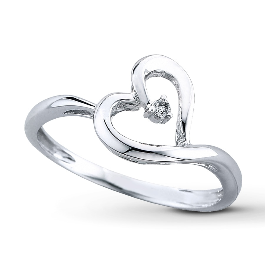 Kay Diamond Heart Ring 10K White Gold