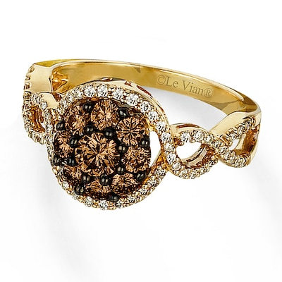 Le Vian Ring 1 ctw Chocolate Diamonds 14K Honey Gold