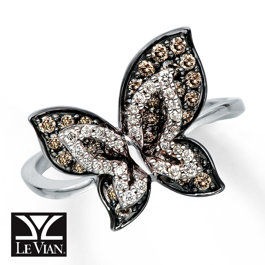 vian ring jewelry tw rose butterfly lyst accent multicolor and diamond gold rings multi in gallery le ct product stone normal multistone