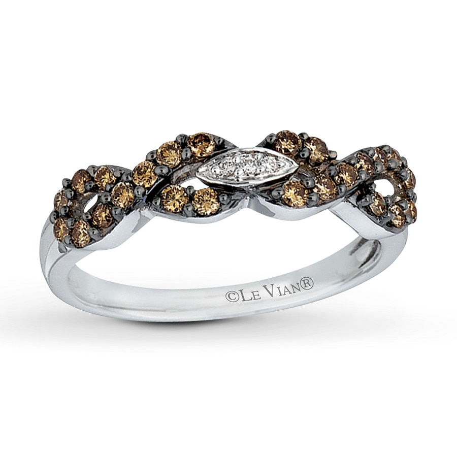 levian chocolate diamonds 3 8 carat ring 14k vanilla