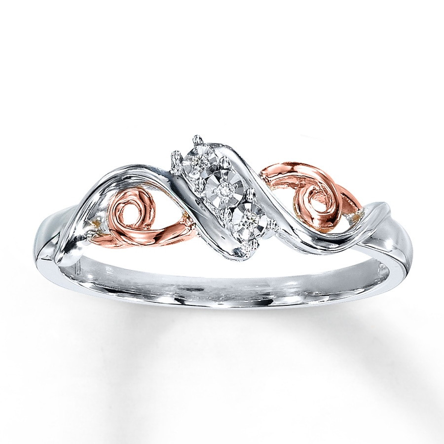 Kay - Diamond Ring 10K Rose Gold Sterling Silver