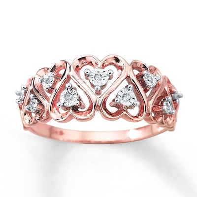 Diamond Heart Ring 10K Two-Tone Gold