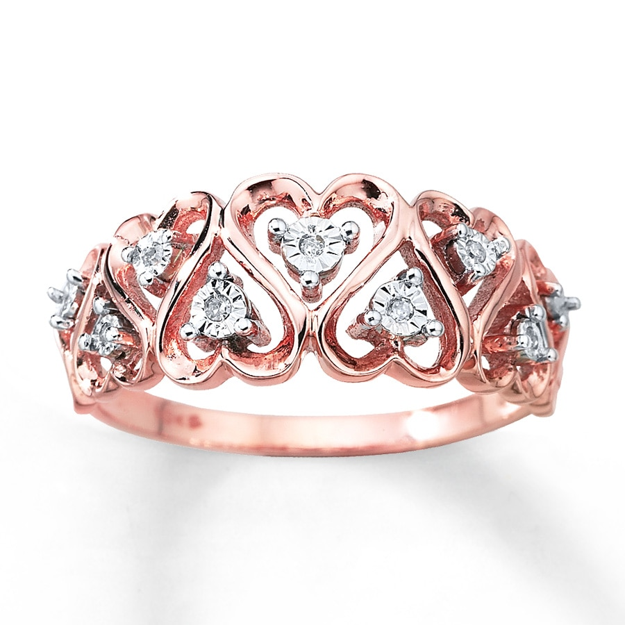 Kay Diamond Heart Ring 10K TwoTone Gold