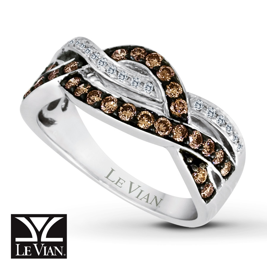 levian chocolate diamonds 1 2 ct tw ring 14k vanilla