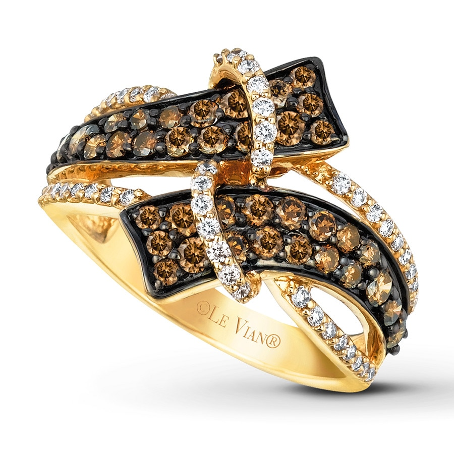 levian chocolate diamonds 1 1 6 ct tw ring 14k honey