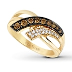 LeVian Chocolate Diamonds 3/8 ct tw Ring 14K Honey Gold