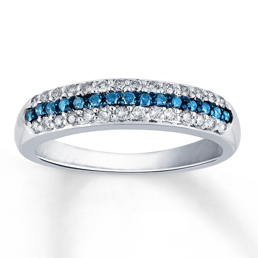 blue and engagement rhodium plated white round ring love celtic knot wedding rings gold cz