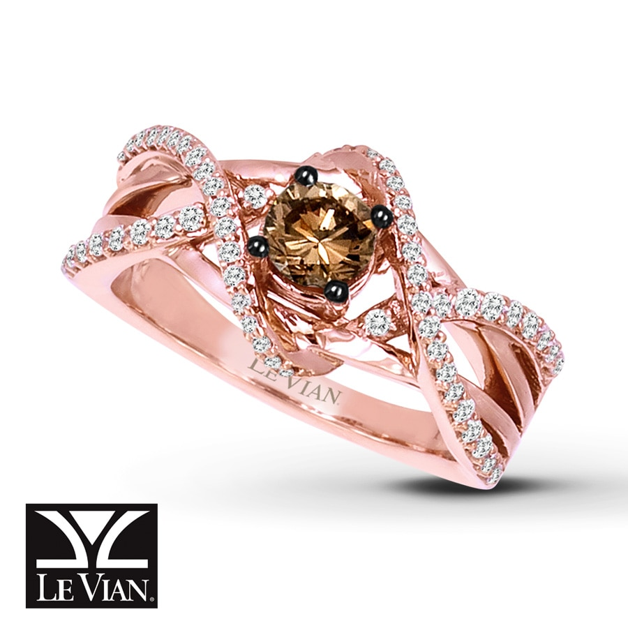 levian chocolate diamonds 3 4 ct tw ring 14k