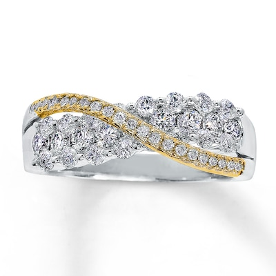 Diamond Band 1 ct tw Round-cut 14K Two-Tone Gold