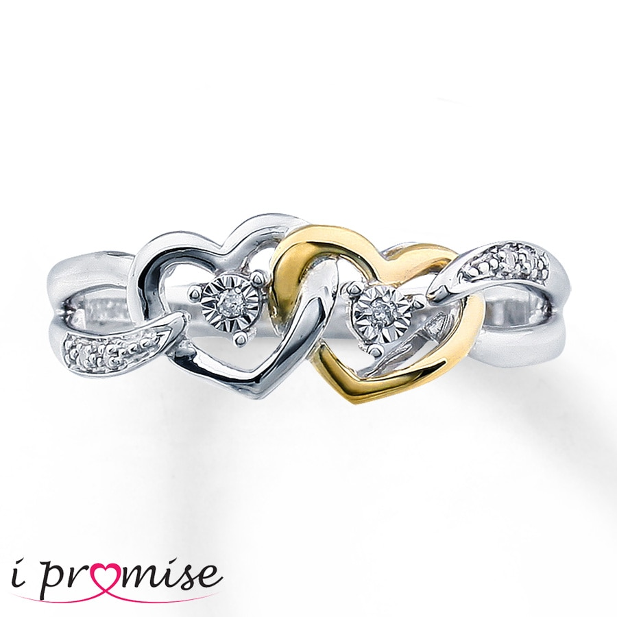 Kay Diamond Promise Ring Sterling Silver 10K Gold