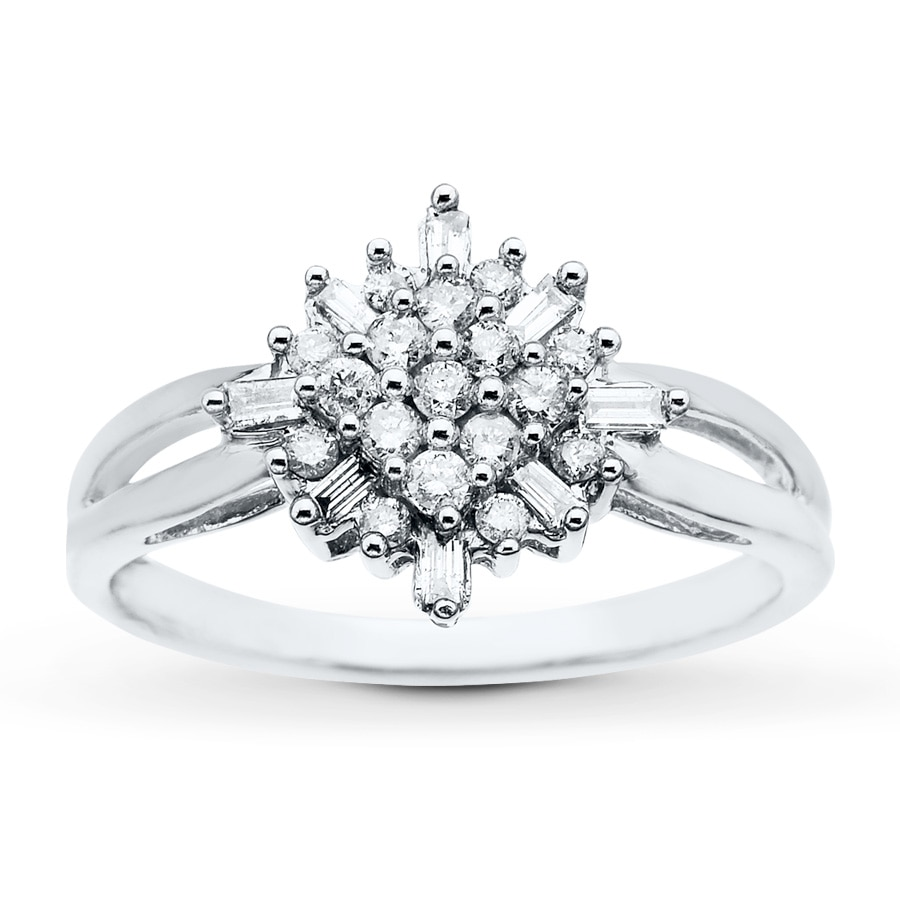 Kay Diamond Ring 1 3 ct tw Diamonds 14K White Gold