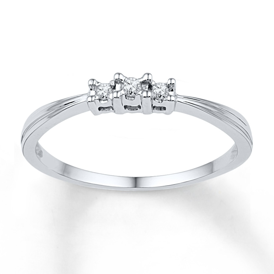 Kay Diamond Promise Ring 1 20 ct tw Round cut 10K White Gold