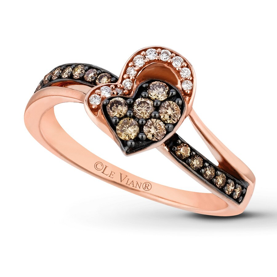 levian chocolate diamonds 1 3 ct tw ring 14k