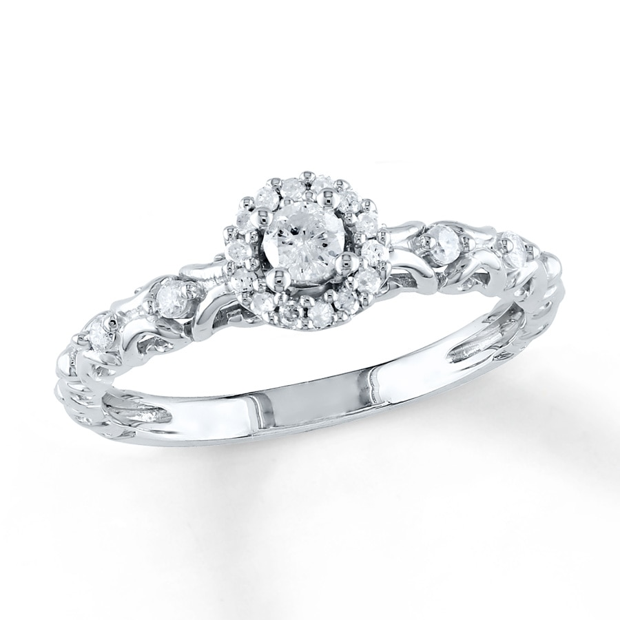 Kay Diamond Promise Ring 1 4 ct tw Round cut Sterling Silver