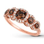 LeVian Chocolate Diamonds 3/4 ct tw Ring 14K Strawberry Gold