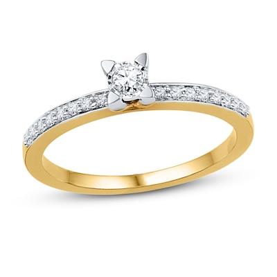 Diamond Promise Ring 1/6 ct tw Round-cut 10K Yellow Gold