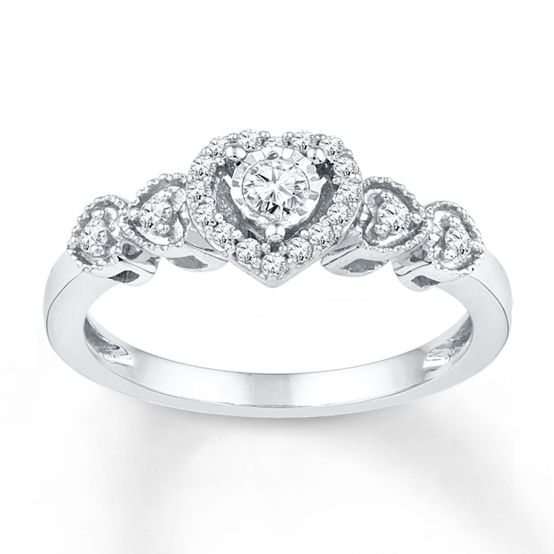 Diamond Promise Ring 1 5 Ct Tw Round