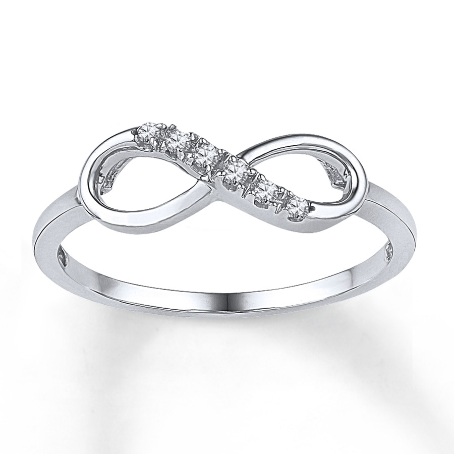 diamond infinity ring 120 ct tw roundcut 10k white gold
