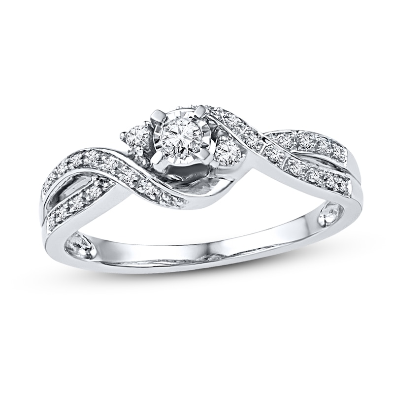 Diamond Promise Ring 1 6 Ct Tw Round
