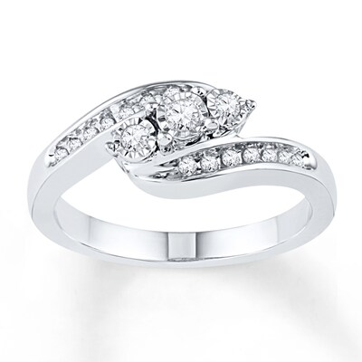 Diamond Ring 1/5 ct tw Round-cut Sterling Silver
