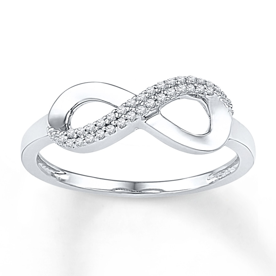 Diamond infinity ring kay