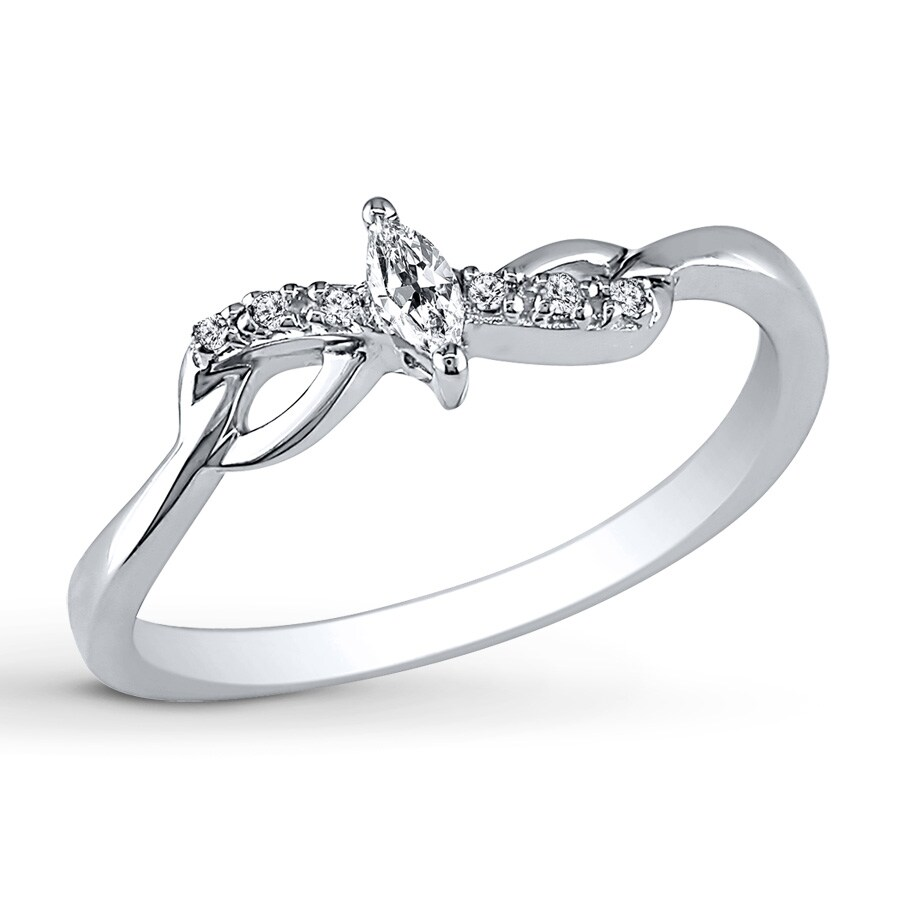 Kay Diamond Promise Ring 1 10 Carat tw 10K White Gold