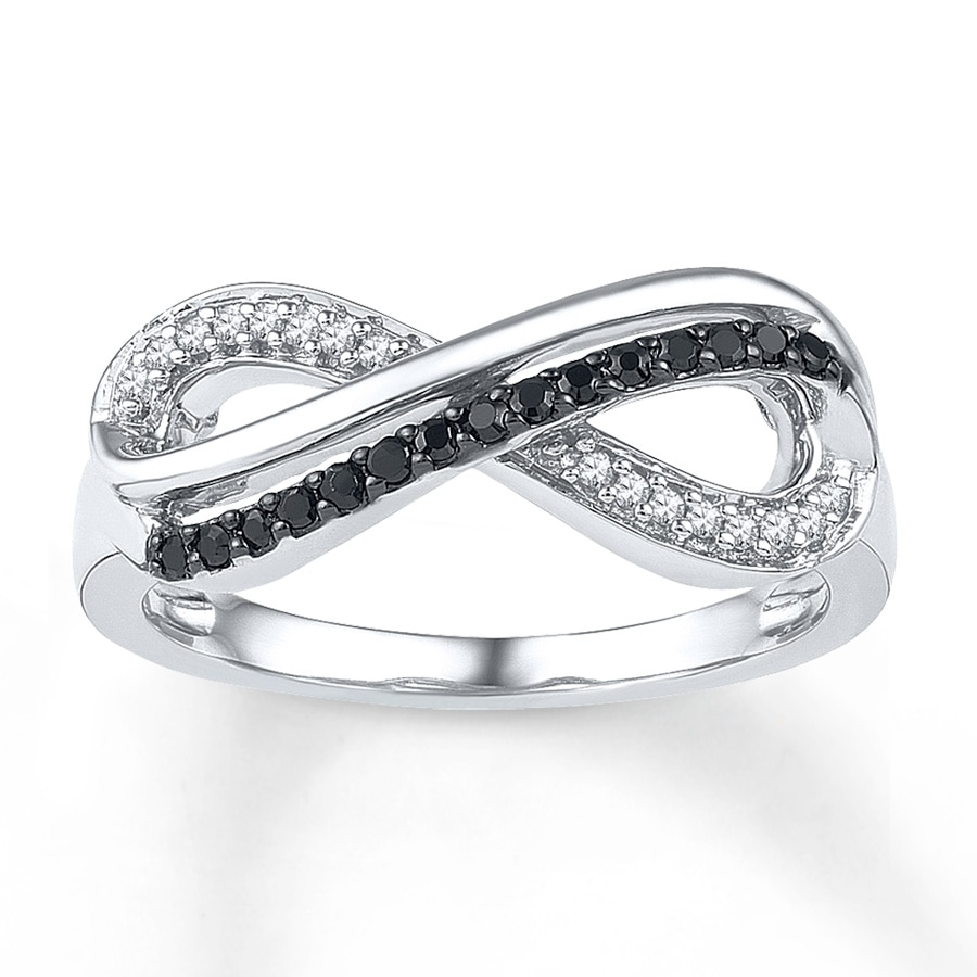 Kay infinity symbol ring 16 ct tw diamonds sterling silver hover to zoom buycottarizona Choice Image