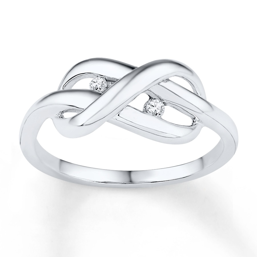 Kay infinity knot ring 120 ct tw diamonds sterling silver hover to zoom buycottarizona Choice Image