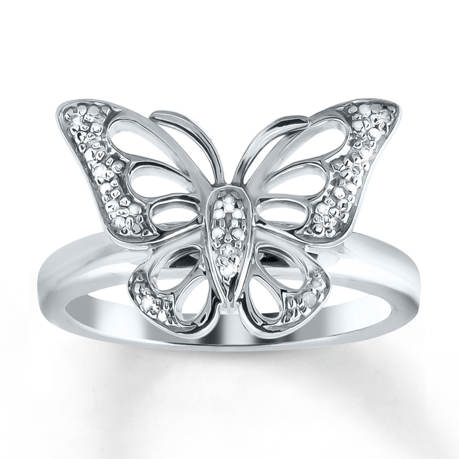 en carat bf butterfly diamond in design ring gw baunat platinum rings