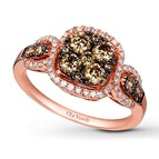 LeVian Chocolate Diamonds 1 ct tw Ring 14K Strawberry Gold