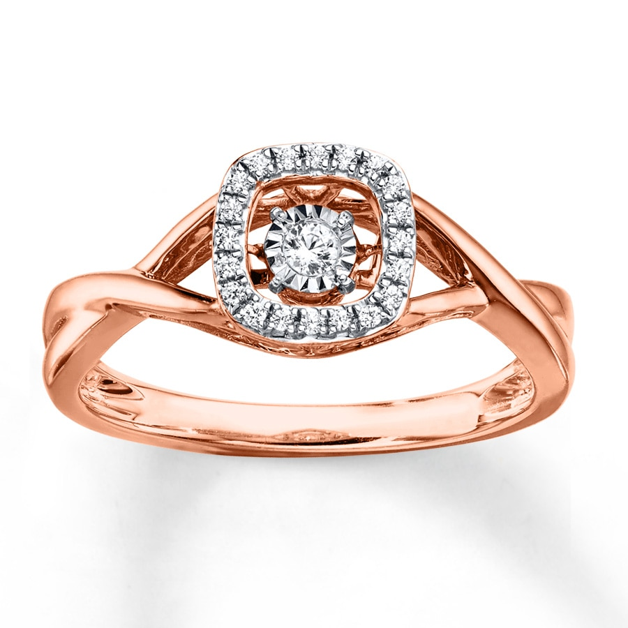 Kay Diamonds in Rhythm Ring 1 8 ct tw Diamonds 10K Rose Gold