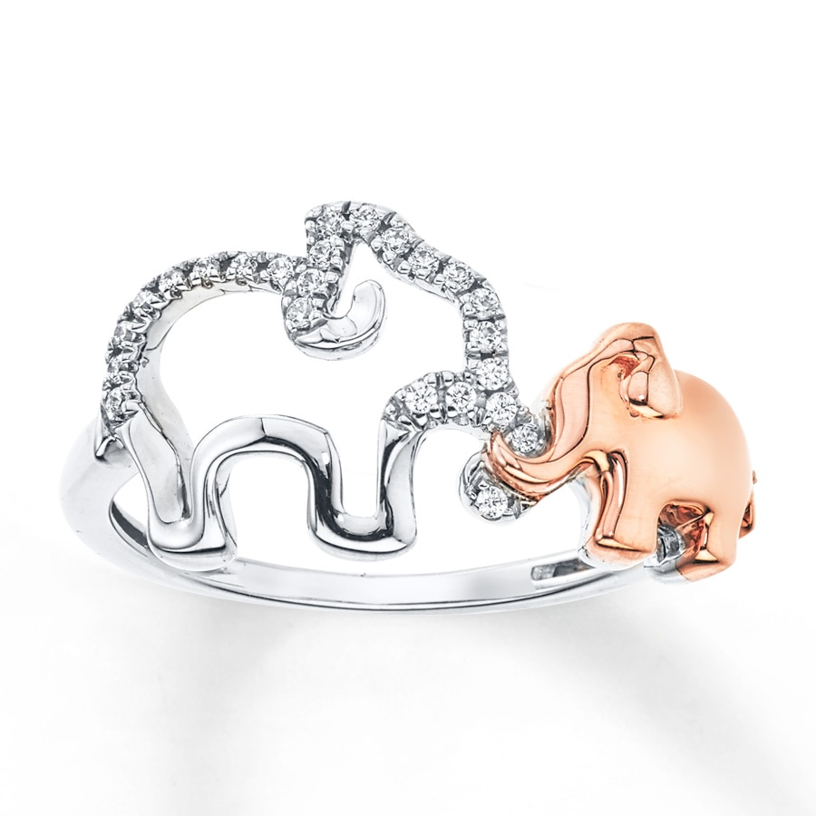 yellow elephant gold ring engagement rings