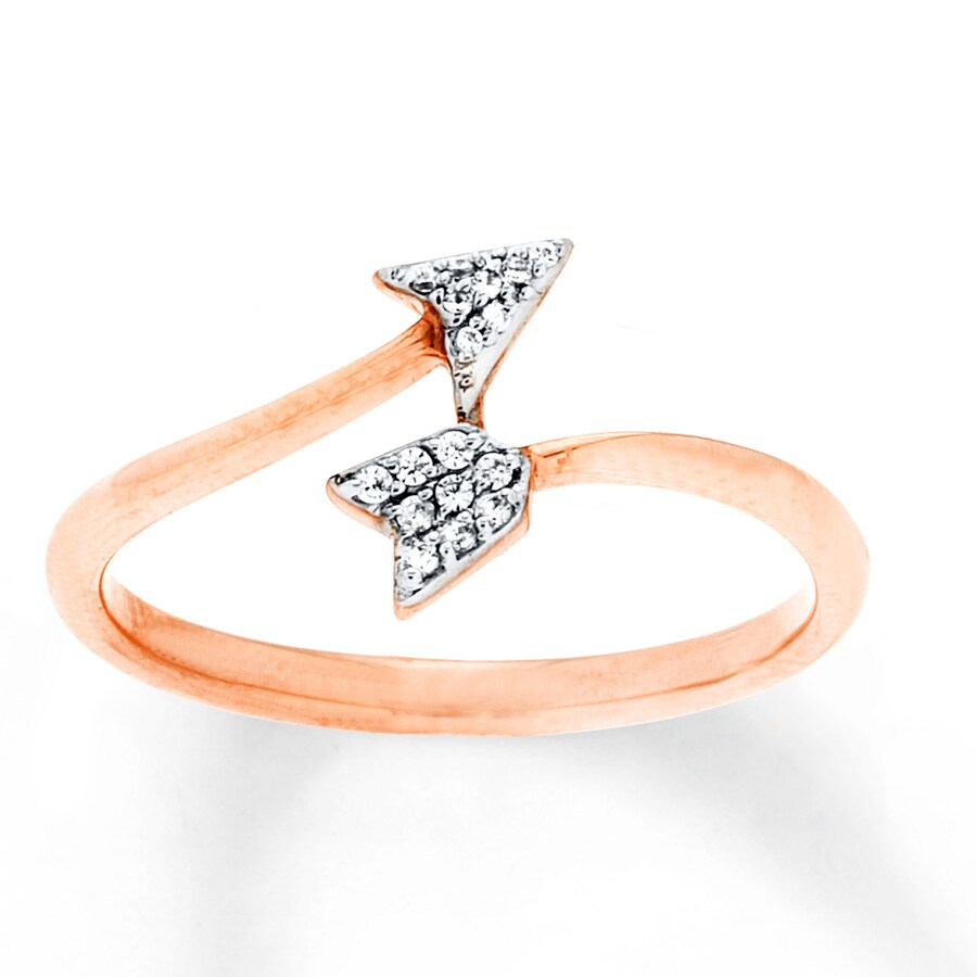 Kay Arrow Ring 1 20 ct tw Diamonds 10K Rose Gold