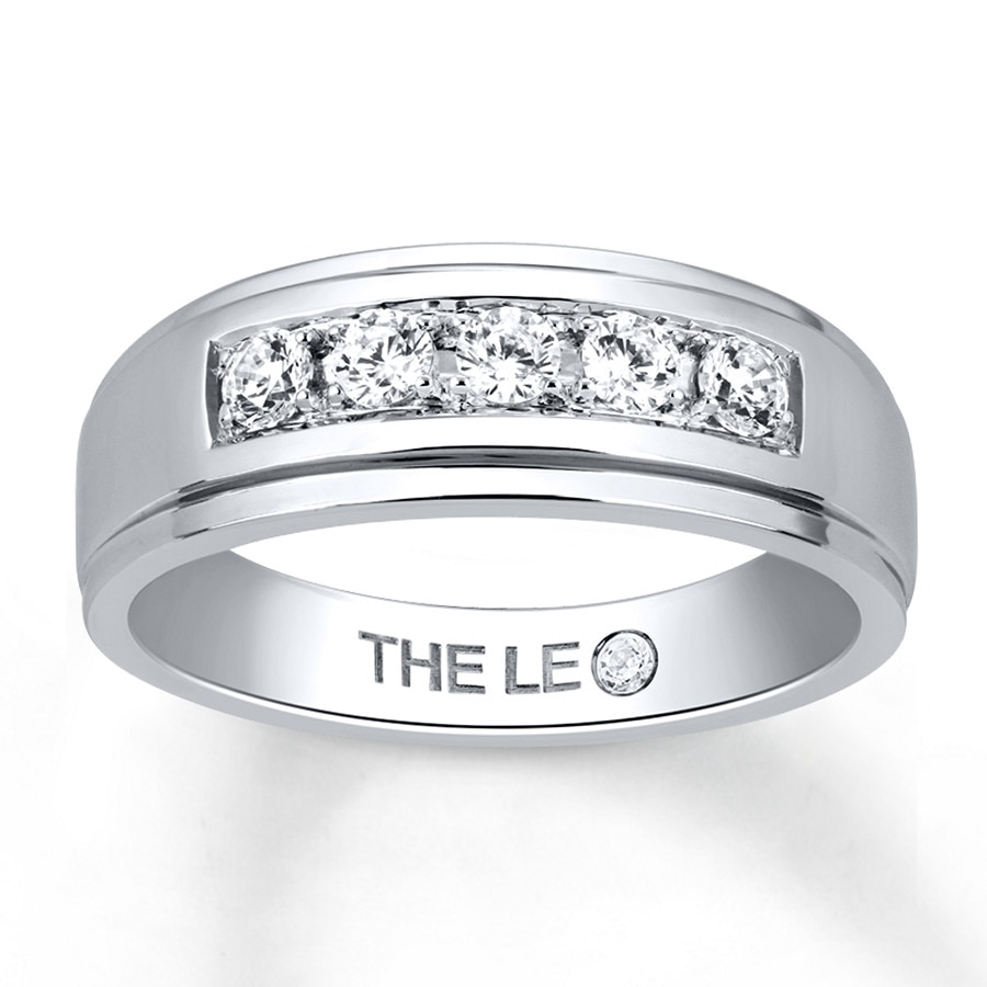 Kay Leo Diamond Men s Band 1 2 ct tw Diamonds 14K White Gold