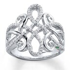 SOFIA VERGARA Ring 1/3 ct tw Diamonds Sterling Silver