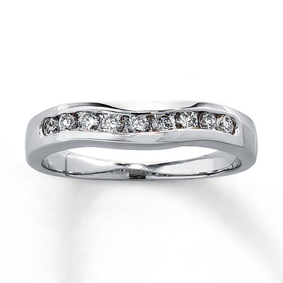 Diamond Enhancer Ring 1/4 ct tw Round-cut 14K White Gold Kay Jewelers