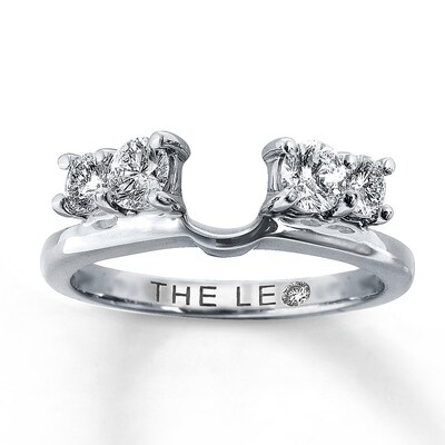 Leo Diamond Enhancer Ring 3/4 ct tw Round-cut 14K White Gold The Leo Diamond