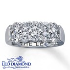 Leo Diamonds 1 3/4 ct tw Round-cut 18K Gold Anniversary Band