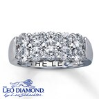 Leo Diamond Band 1 3/4 ct tw Round-cut 14K White Gold