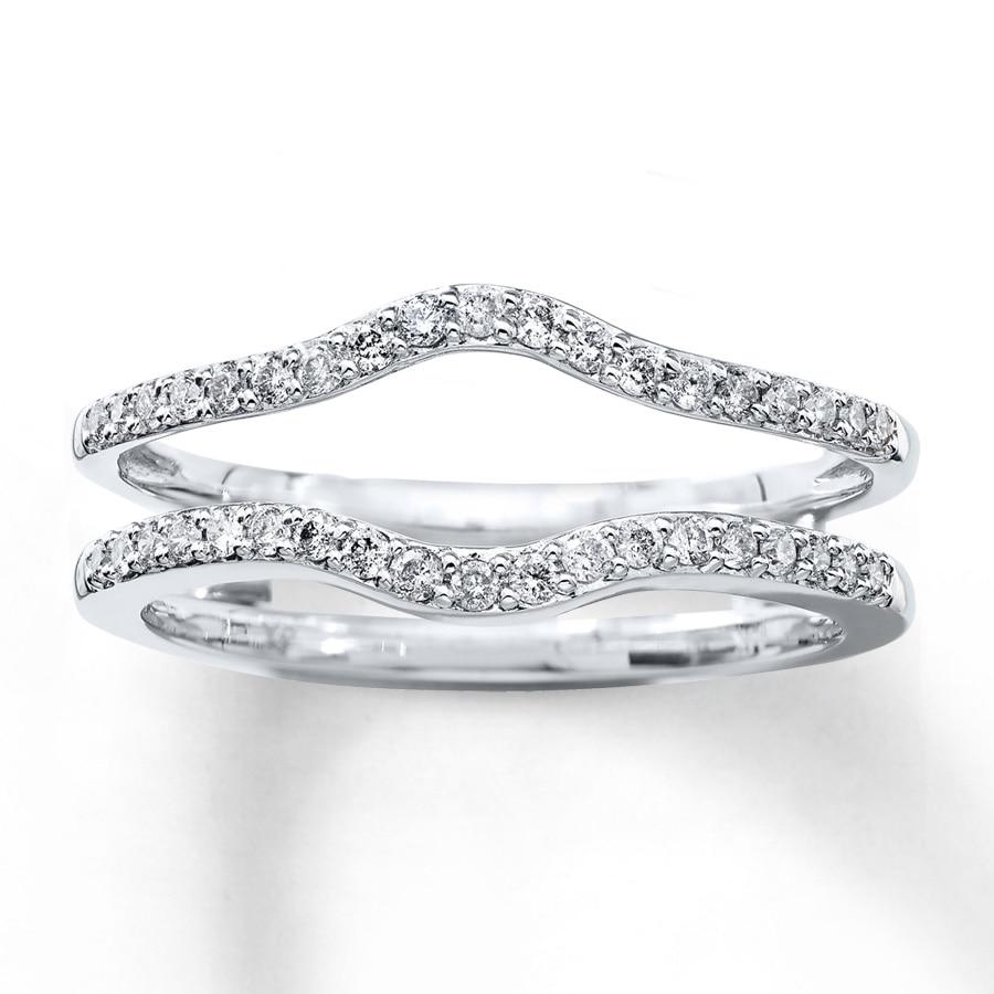Diamond Enhancer Ring 1 4 Ct Tw Round Cut 14k White Gold