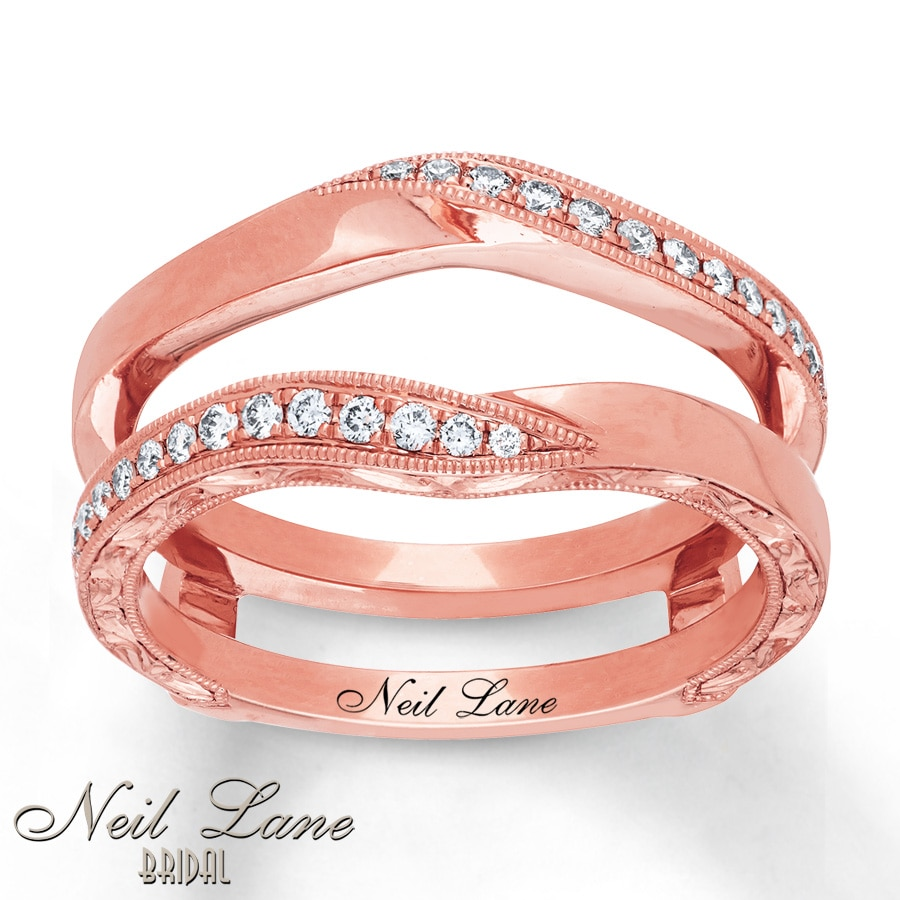 Kay - Neil Lane Enhancer Ring 1/5 ct tw Diamonds 14K Rose Gold