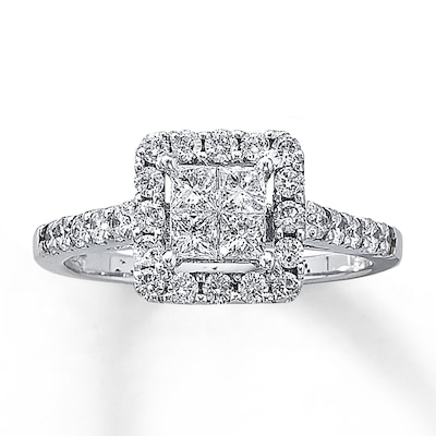 Diamond Engagement Ring 1 ct tw Diamonds 14K White Gold Kay Jewelers