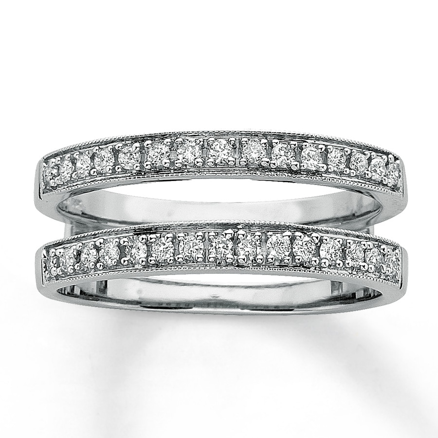 hover to zoom - Double Band Wedding Ring