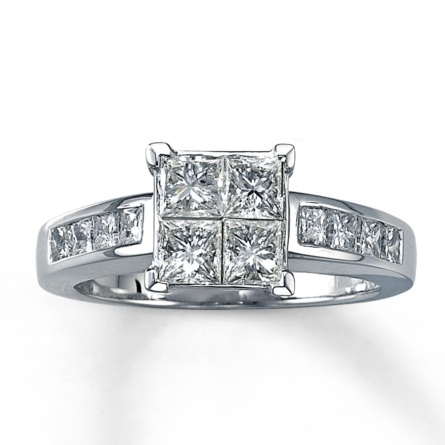 Kay Diamond Engagement Ring 1 5 8 ct tw Princess cut 14K White Gold