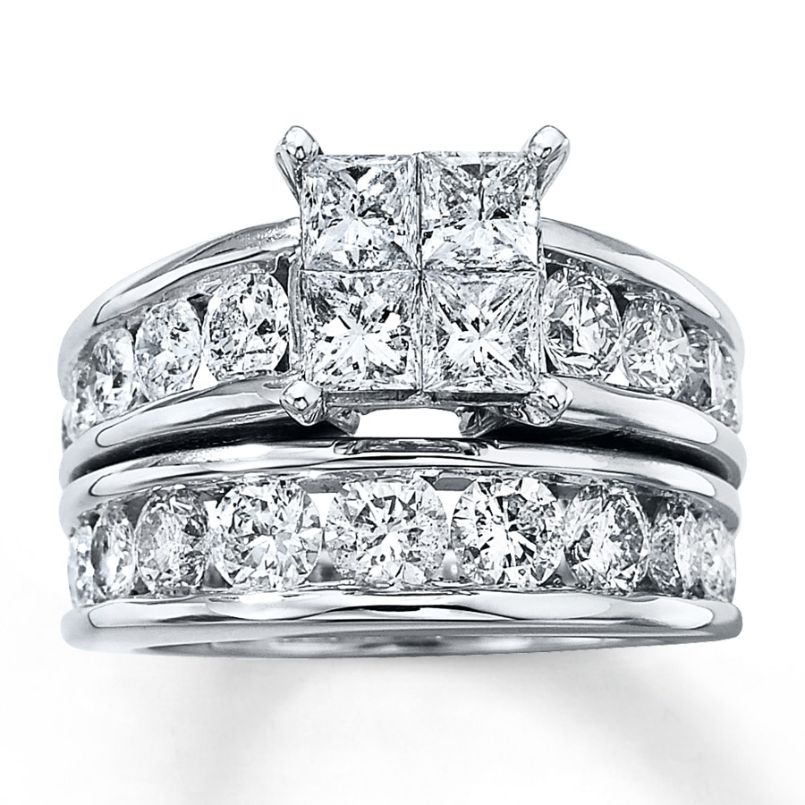 kay diamond bridal set 4 ct tw 14k white gold - Kay Jewelers Wedding Rings Sets