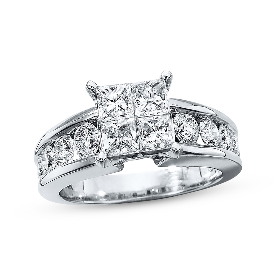 Diamond Engagement Ring 2 1 2 Ct Tw 14k White Gold